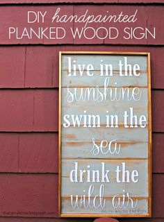 """That's My Letter: """"P"""" is for Planked Sign, diy handpainted planked wood sign"""