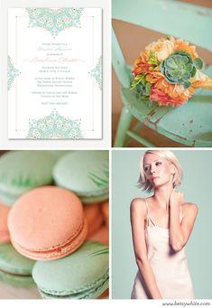 A Minty Peach Bridal Shower