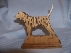 Wooden Animal Puzzle Walker Hound on Etsy, $20.00