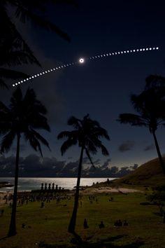 Eclipse on the Beach
