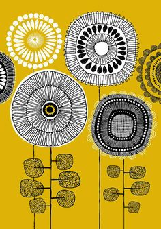 eloise renouf art picture yellow black white