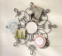 Snowflake Card Holder | Pottery Barn