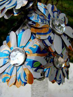 aluminum can flowers