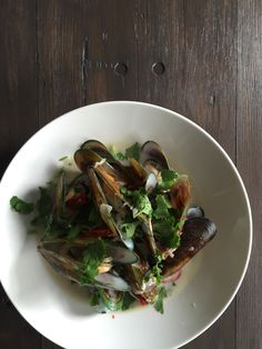 Steamed green mussel