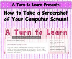 Classroom Freebies: How to Take a Picture of Your Computer Screen!