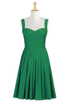 Her Fifties Sundress -- Jade Green