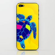 Paper Craft Sea Turtle iPhone Skin - This brilliant loggerhead sea turtle swims majestically off the beach of the tropical island where she has laid her eggs.