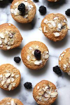 Almond Blackberry Cobbler Muffins