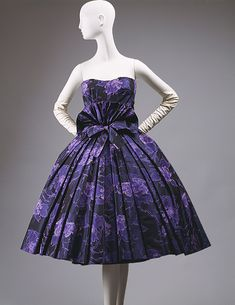 """Eventail"" cocktail dress, fall/winter 1956–57  Christian Dior (French, 1905–1957)"