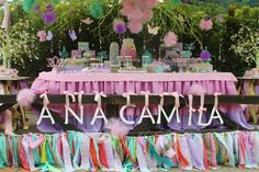 Stunning Dessert Table at a Pastel Butterfly Garden Party with Such Cute Ideas via Kara's Party Ideas | KarasPartyIdeas.com #Butterflies #Girl #Butterfly #PartyIdeas #PartySupplies #DessertTable