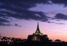 Gilbert Arizona Temple with typical gorgeous AZ colors! Mormon LDS
