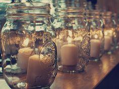 idea, houses, candle holders, around the house, mason jar candles