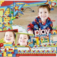 Play scrapbook layout