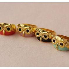 Owl Rings bling, fashion ring, jewelrys ring, stuff, style, accessori, owl rings, jewelri, owls