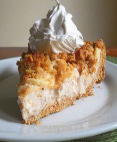 Apple Crisp Cheesecake pie