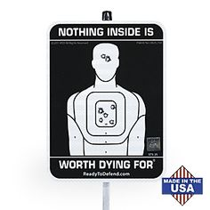 Home Defense Warning Sign