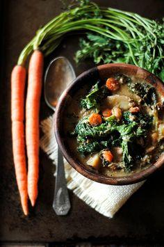 chicken, sausage and kale stew.