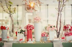 gorgeous vases and florals