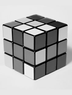 #grey #design #rubiks #cube