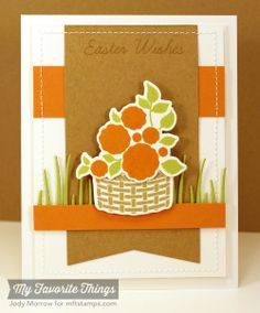 Easter Bunny, Blueprints 13 Die-namics, Easter Bunny Die-namics, Tall Grassy Edge Die-namics - Jody Morrow #mftstamps