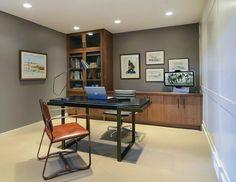 Modern ranch home office by Johnson & Associates Interior Design