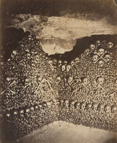 Nadar (Gaspard-Félix Tournachon) (French, 1820–1910) Catacombs, Paris, 1861, Albumen silver print from a glass negative, (24 x 19.8 cm)