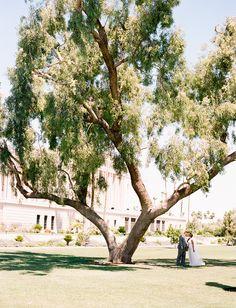 Mesa Arizona Temple + summer wedding = perfection