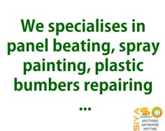 we specialises in panel beating spray painting plastic bumbers. Black Bedroom Furniture Sets. Home Design Ideas