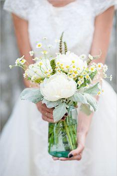 mason jar arrangments | mason jar floral arrangement | Wedding
