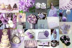 Lavender and white wedding inspiration board