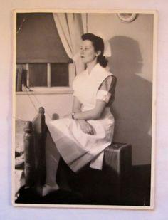Vintage Photo of a Student Nurse