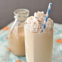 salted caramel milkshake - yum!