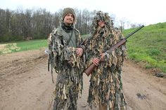 Pete King and Sam King in matching hunting gear. #FarmKings