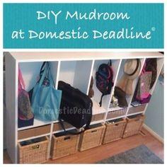 DIY custom entryway mudroom organized #diy #mudroom #entryway #organized #domesticdeadline