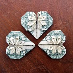 Hand out these Fancy Dollar Hearts instead of candy! Step-by-step photo tutorial.