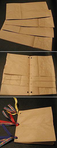 grade 4 crafts, paper bag crafts, paper bags, brown bags, paper bag album, scrapbook paper, book making ideas for kids, paper bag journal, journaling for kids