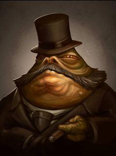 """Victorian era Jabba the Hutt, """"Kingpin"""" by Greg Peltz."""