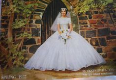 1950s magazine cover -- wedding dress! vintage gowns, wedding dressses, vintage weddings, 1950s magazin, vintage wedding gowns, dress vintag, 50s wedding, bride, vintage clothing
