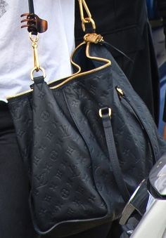 leather, black, gold, LV = perfection