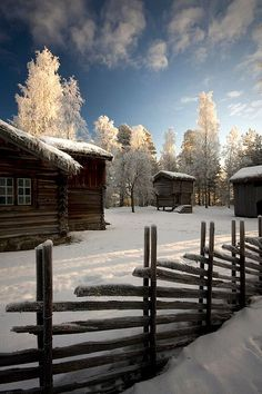 Winter at an Old Farm by Pewald   ~Norwegian farm circa 1700~