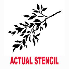 Cutting Edge Stencils - Hanging Tree Branch A Stencil. $19.95. See more Fresco and Mural Stencils: http://www.cuttingedgestencils.com/wall-stencils-murals-oaks.html    #fresco #mural #stencils #cuttingedgestencils #stenciling #stencilpatterns