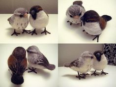 love birds - A great pic tutorial on how to make felted birds.