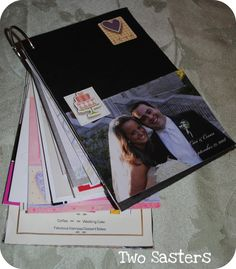 Wedding Card Keepsake book...fun way to display wedding cards instead of keeping them hidden in a box. Easy, fun, and cheap to make :)