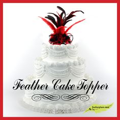 DIY Feather Cake Topper from The Feather Place  : Crafting with Feathers : #thefeatherplace #craftingwithfeathers #feathers #diyfeathercrafts