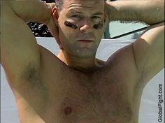 football player jacuzzi hottub sauna man