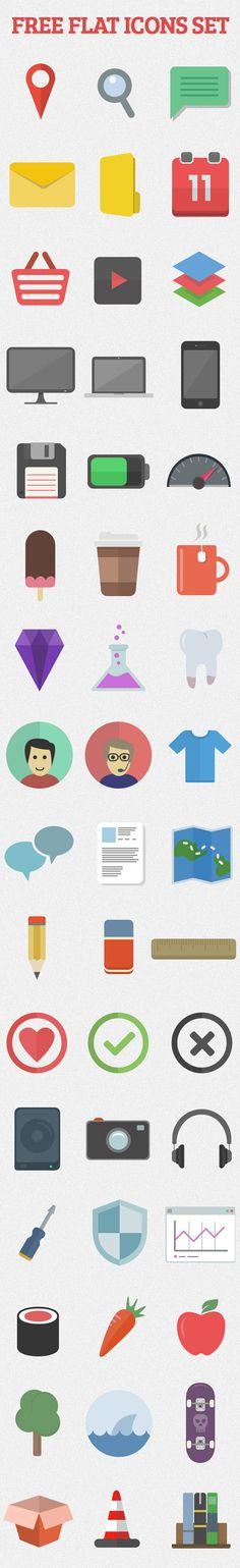 Flat Vector Icons for Web, Apps & Infographics Design