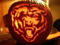 Chicago Bears Pumpkin I Made