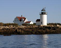 Goat Island Lighthouse, near Kennebunkport, Maine