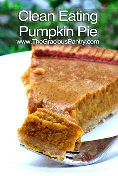 Clean Eating Pumpkin Pie