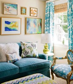 Colorful Beach Living Room
